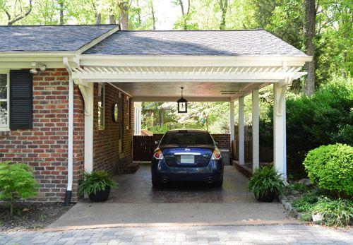 Building A Garage Or Carport Pergola Young House Love Building A Garage Carport Plans Pergola