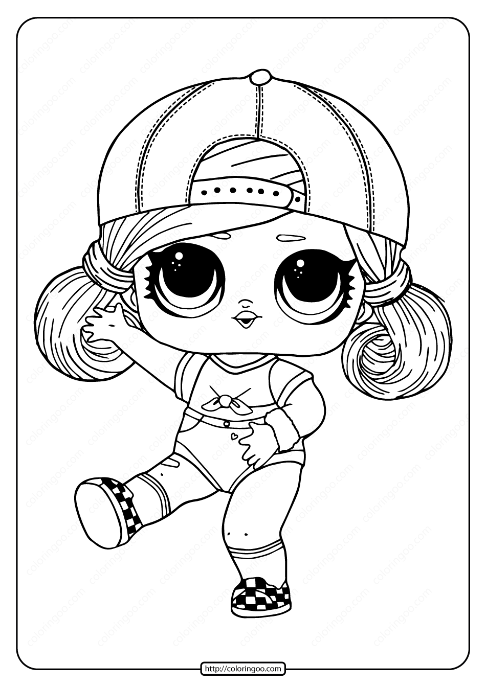 Lol Surprise Hairgoals Sk8er Grrrl Coloring Page Cool Coloring Pages Cartoon Coloring Pages Cute Coloring Pages
