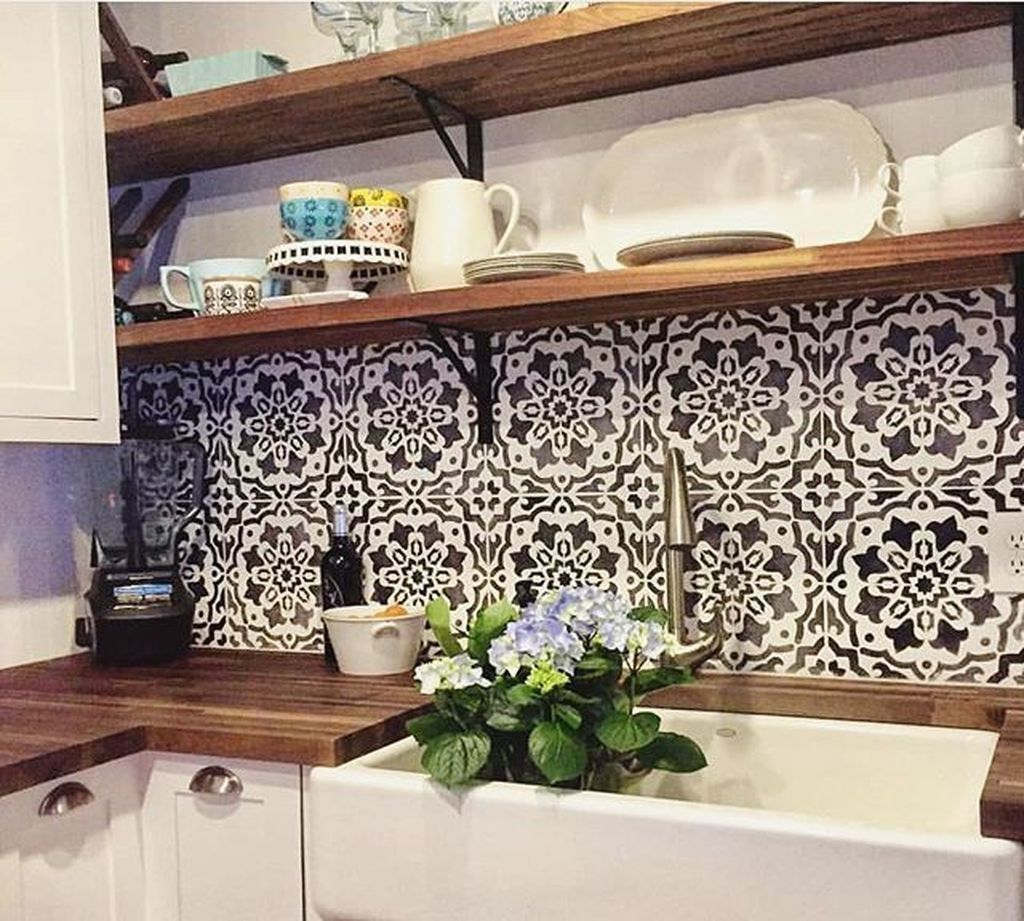 Beautiful Affordable Backsplashes Made With Simple Sheet Materials
