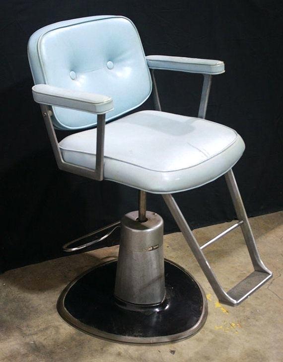 Belvedere Salon Chairs Vintage Blue Barber Hair Salon Chair