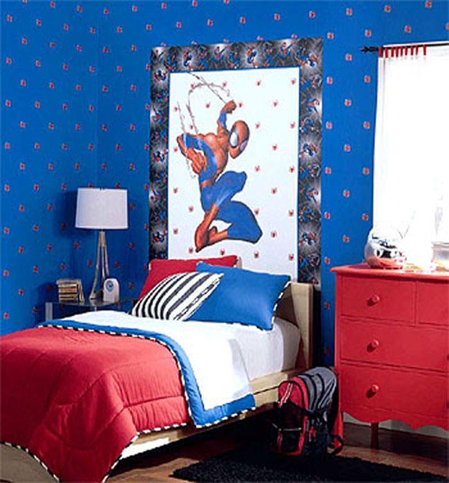 Spiderman White 2x Single Rolls Wallpaper Double Rolls Spiderman Bedroom Spiderman Room Boy Bedroom Design