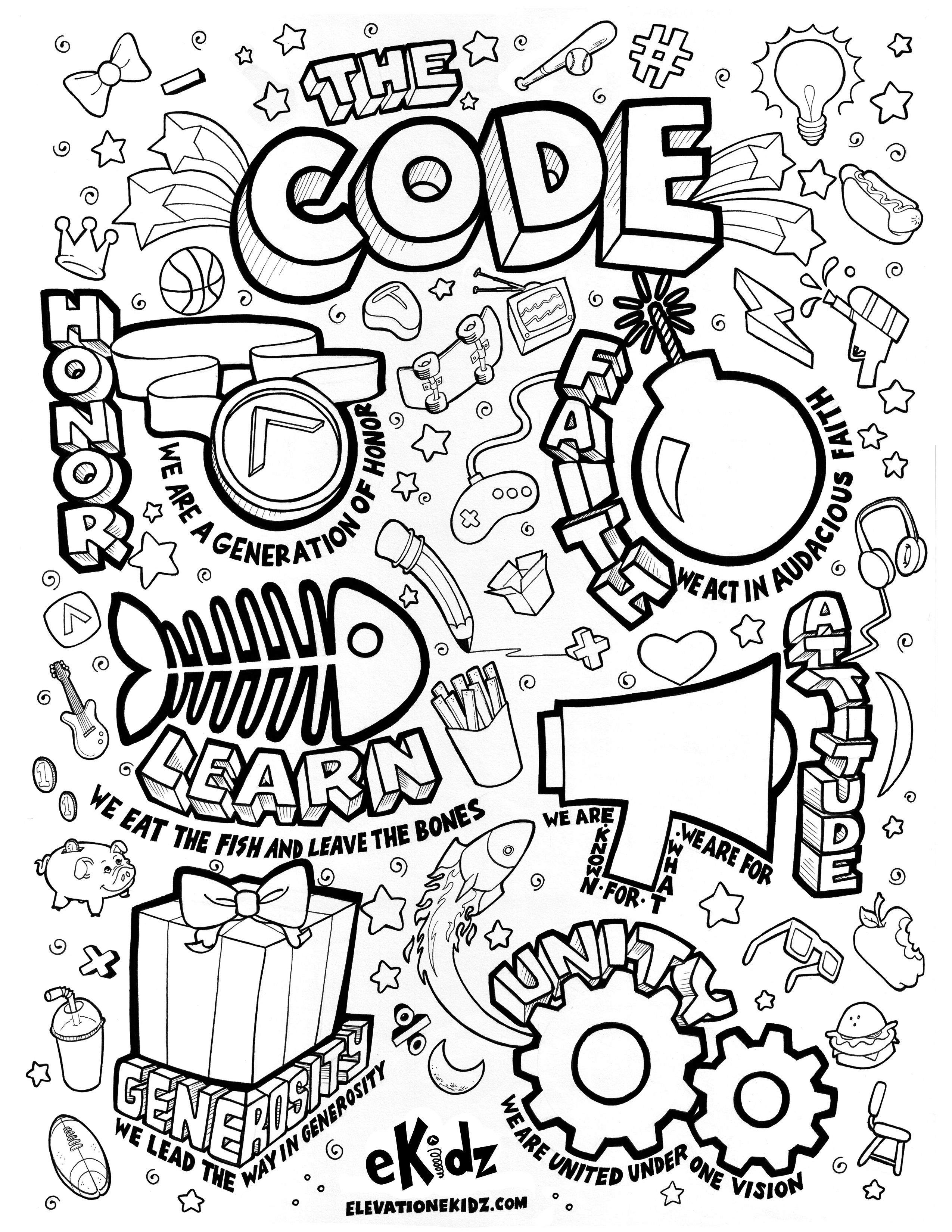Elevation Church Sunday School Coloring Book | Coloring Page