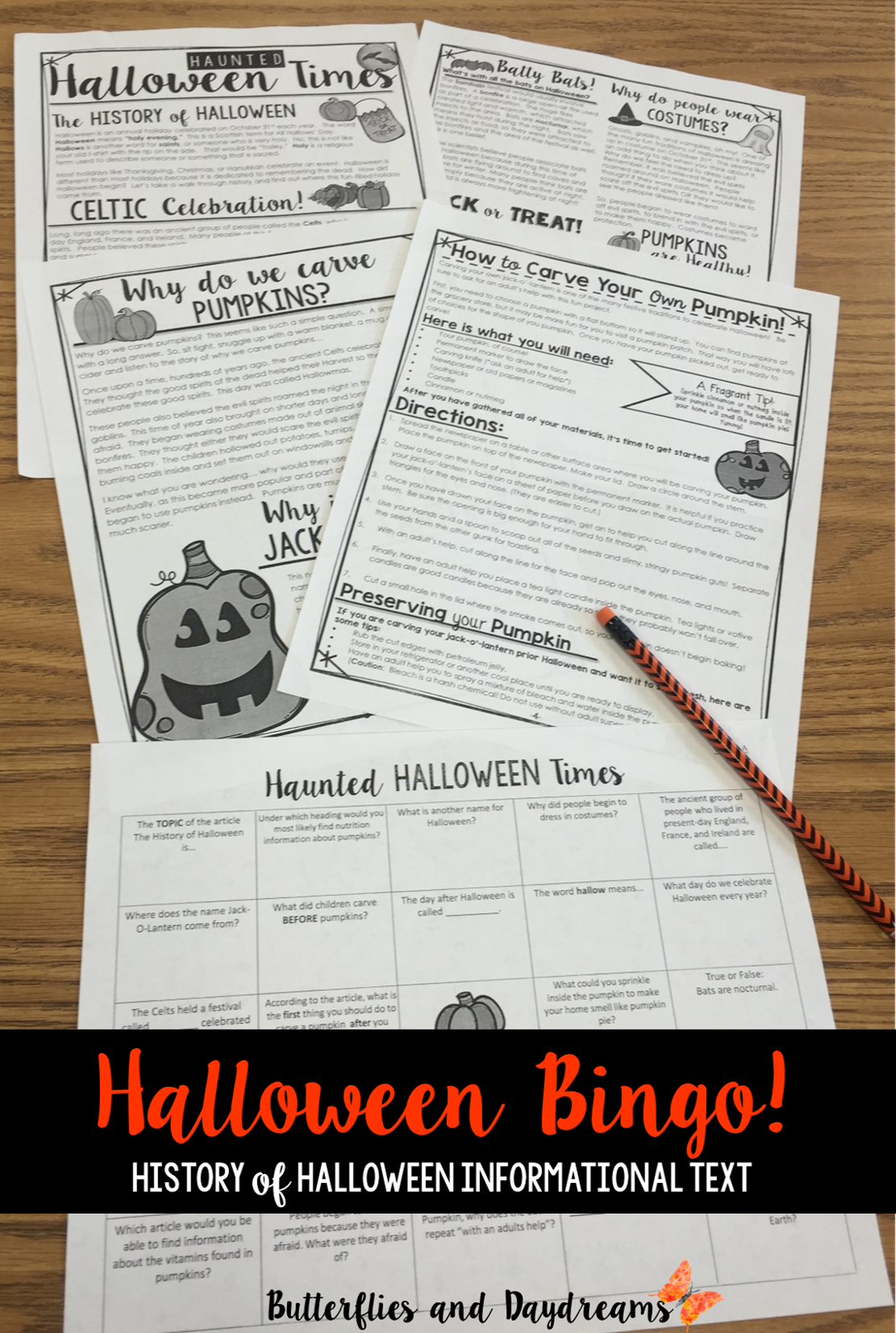 History Of Halloween Informational Text In A Newspaper Style Format Text Dependent Comprehension Halloween Lesson Plans Fall Classroom Ideas Halloween Lesson [ 1652 x 1111 Pixel ]