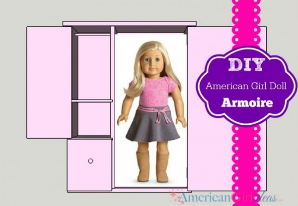 American Girl Doll Storage Armoire • American Girl Ideas | American Girl Ideas #americangirldollcrafts