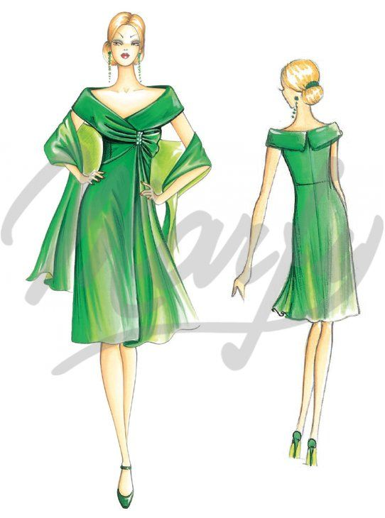 Marfy: Sewing pattern 3169 - Dress | Bocetos | Pinterest | Figurin ...