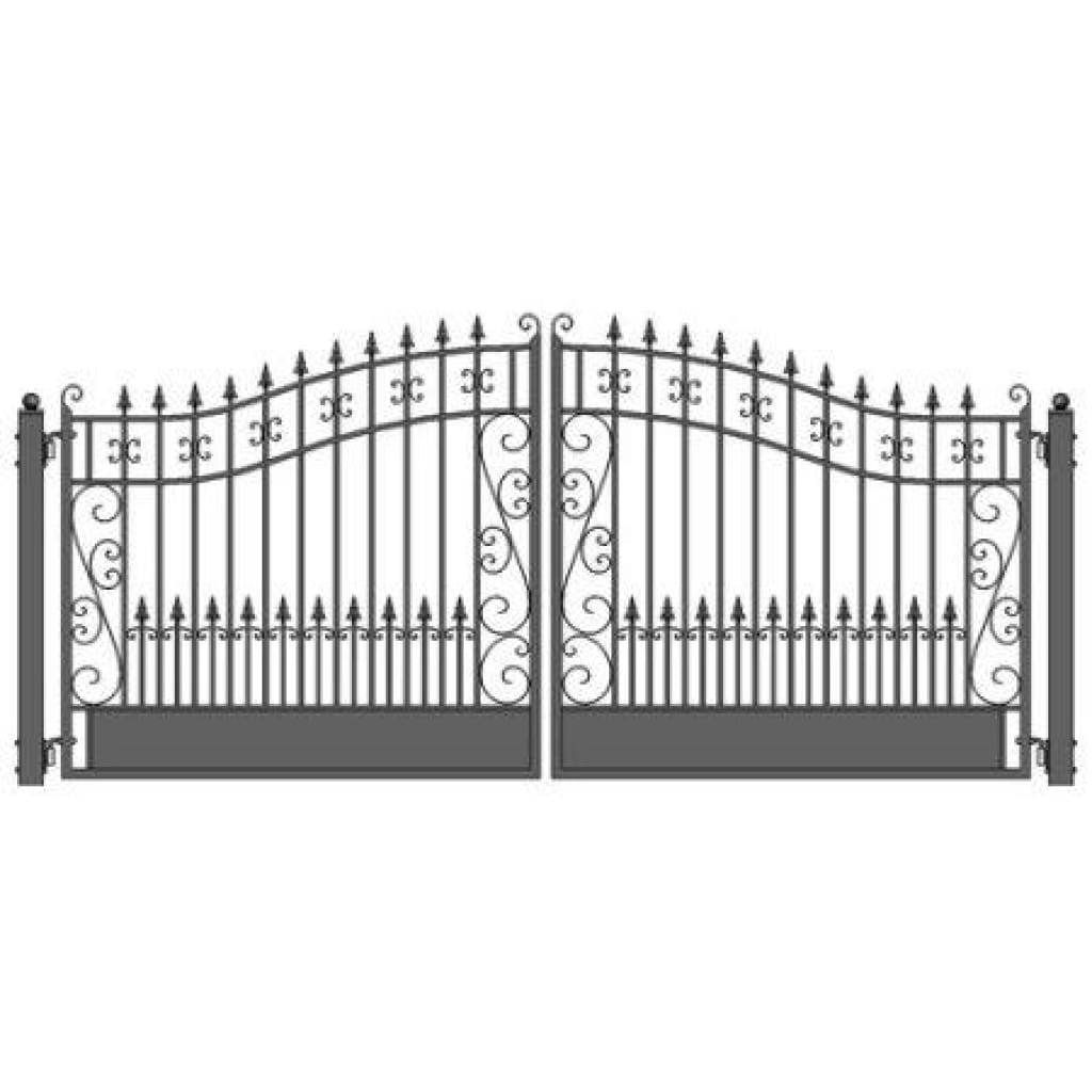Industrial Single Swing Aluminum Gate S4 Smooth Flat Top Metal Driveway Gates Aluminium Gates Wrought Iron Driveway Gates