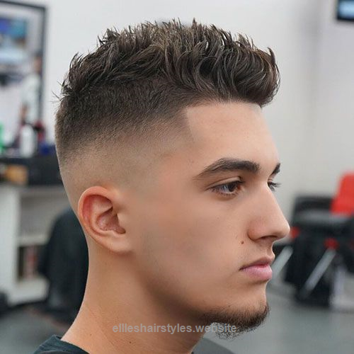 High Skin Fade With Thick Brushed Up Hair Mens Hairstyles Short Mens Hairstyles Thick Hair Styles