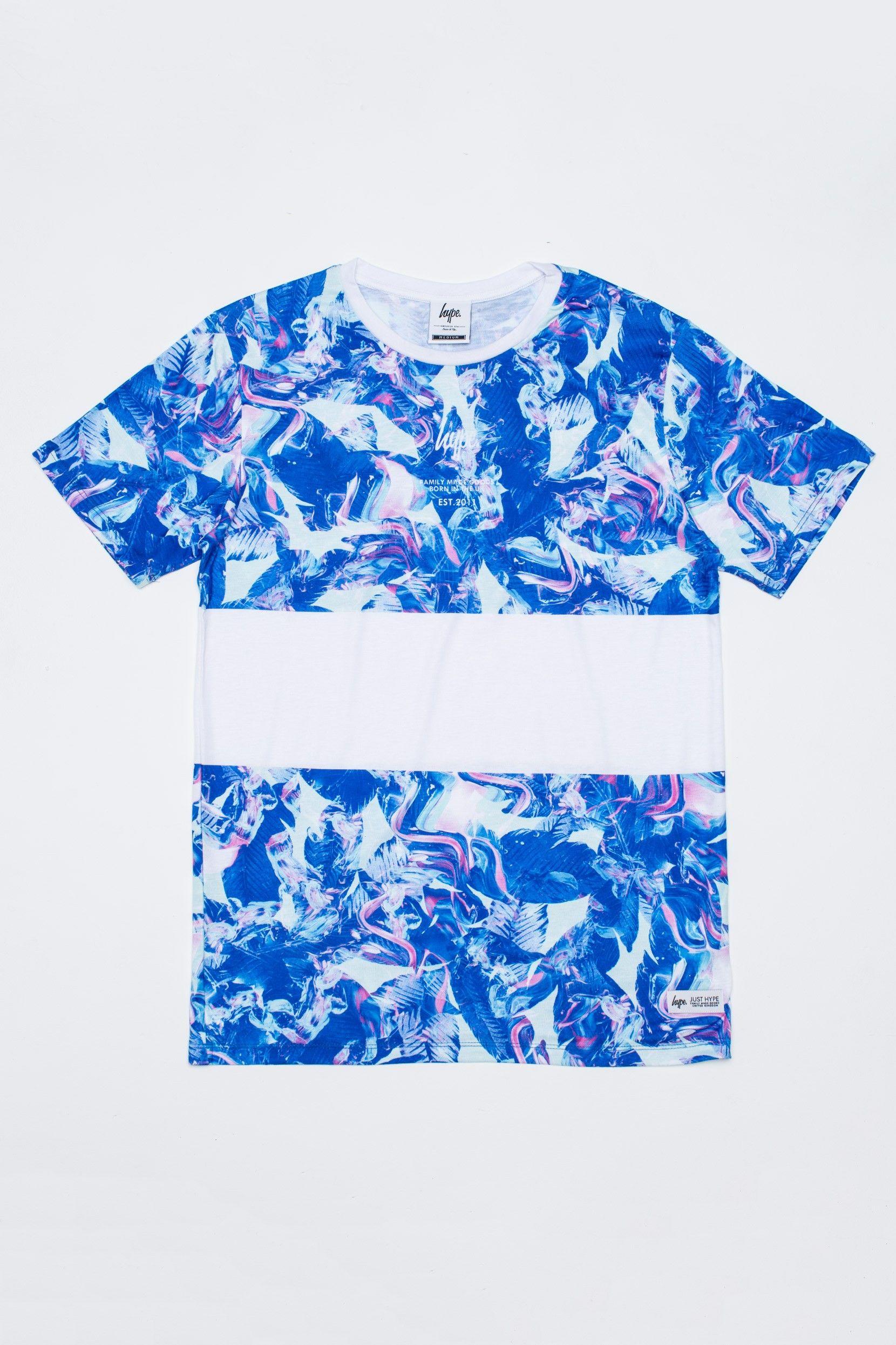 HYPE PAINT GARDEN PANEL T-SHIRT.  https://www.justhype.co.uk/unisex/hype-paint-garden-panel-t-shirt