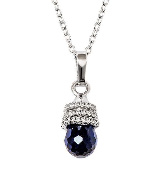 4d3c00663ad851 Barzel Swarovski® Crystal   White Gold Teardrop Pendant Necklace ...