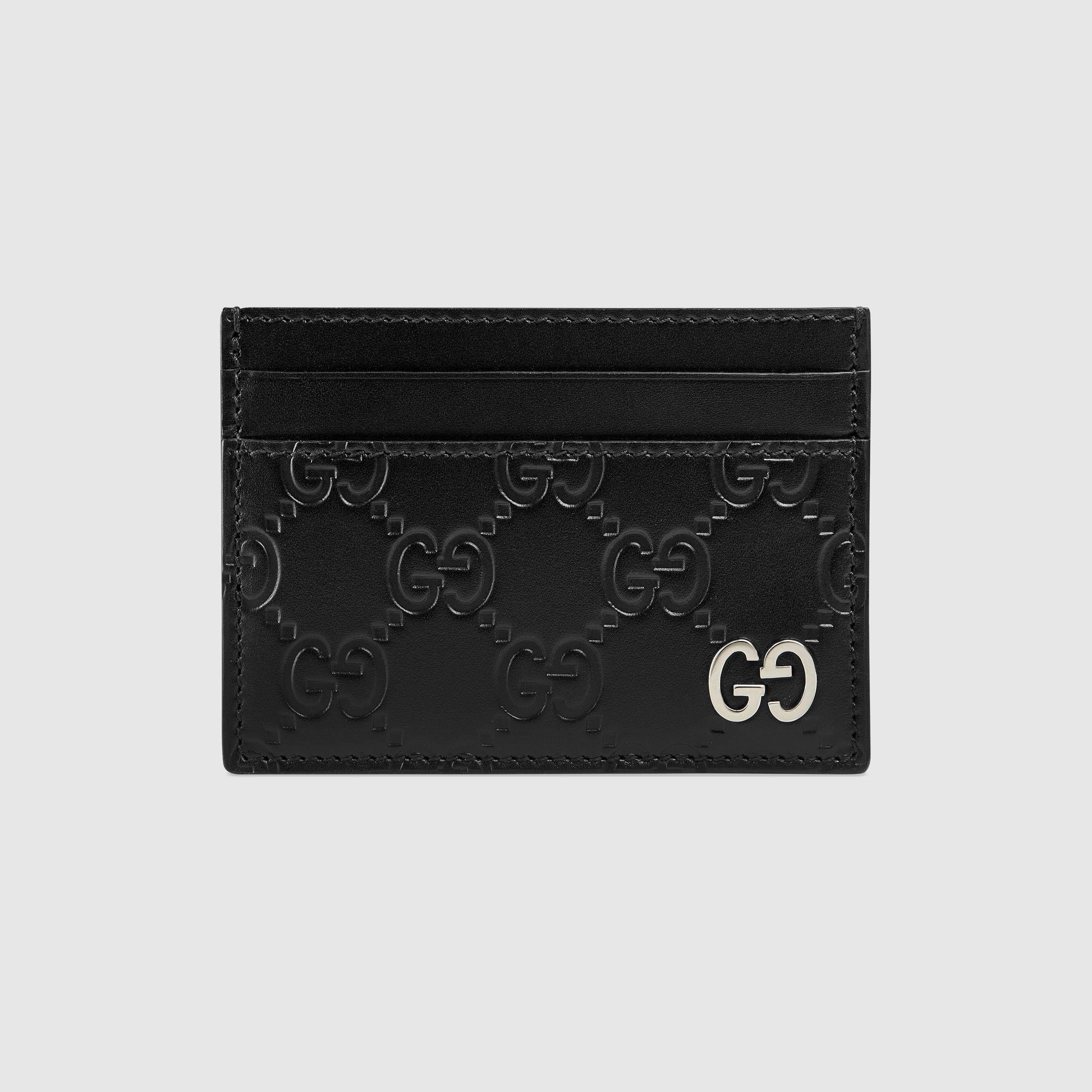 Gucci gucci signature card case in 2020 cards card