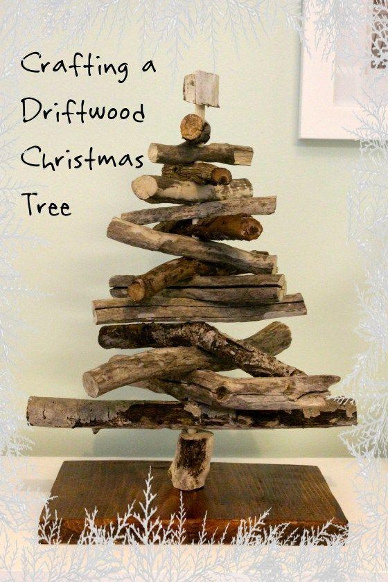 Crafting a Driftwood Christmas Tree coastal christmas Pinterest