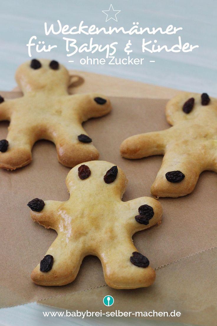 Rezept Für Weckenmänner Aus Zuckerfreiem Hefeteig Für Babys #nikolausbacken