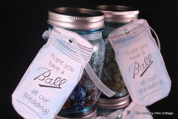 Mason Jar Wedding Favors With Free Printable Tags Wedding Favour Jars Mason Jar Wedding Favors Mason Jar Favors