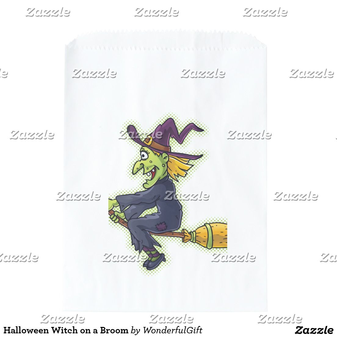 Halloween Witch on a Broom