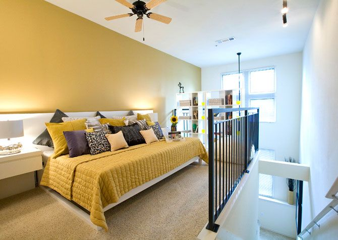This Loft Style Bedroom Is A Great Place For Privacy Without Impacting The Open Layout Below P Loft Style Bedroom Apartment Communities Two Bedroom Apartments