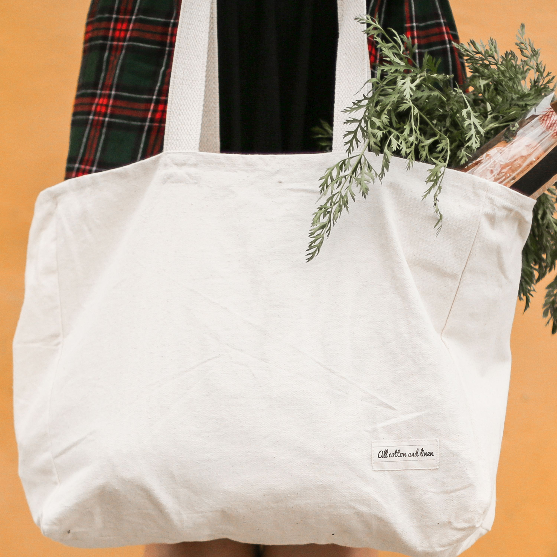 Women Shoulder Bag Handbag Tote Cotton Linen Shopping Clean Bag Recyclable Bag
