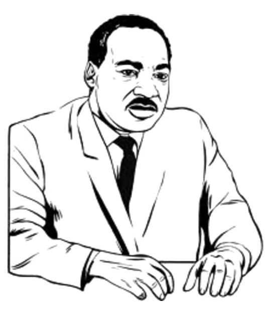 mr martin luther king coloring page - Martin Luther King Coloring Pages