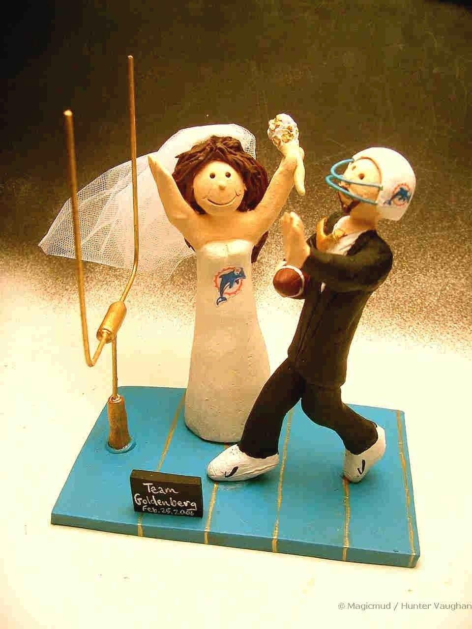 Football Wedding Cake Toppers | wedding ideas | Pinterest | Wedding ...