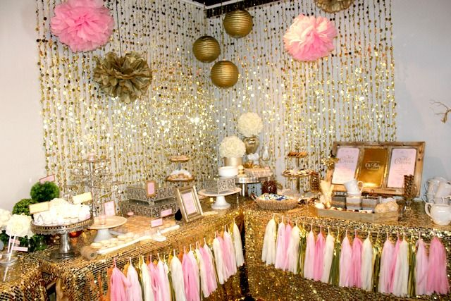 Baby It S Cold Outside Pink And Gold Baby Shower Baby Shower Princess Pink Gold Baby Shower Pink Baby Shower