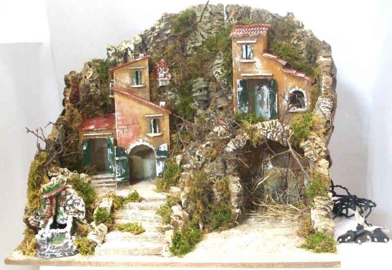 Capanna grotta gruppo case altezza cm 48 capanne per presepe