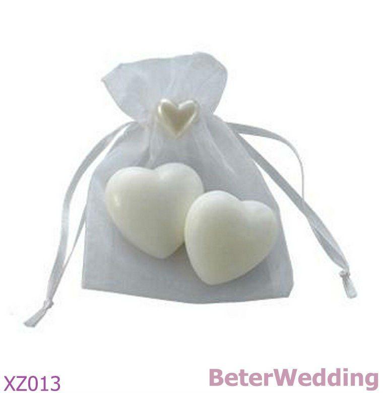 Savon de coeur de XZ013_Mini dans le sac d\'organza (placez 2) (50set ...
