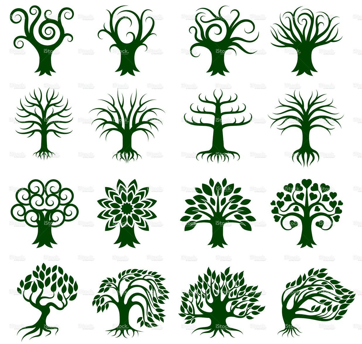 Green Tree Collection icon set | Tattoos. | Pinterest | Icon set ...