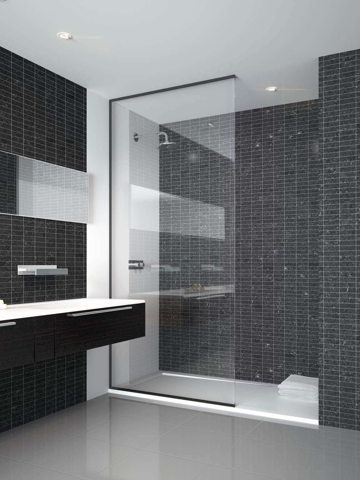 walking shower neon 01 frameless glass walk in shower enclosure ...