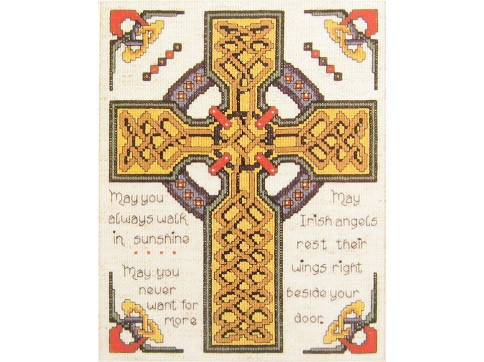 Celtic Cross Counted Cross Stitch Kit 14 count