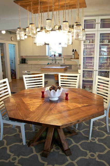 Restoration Hardware DIY Dining Table For Less Than Furniture - Octagon shaped dining table