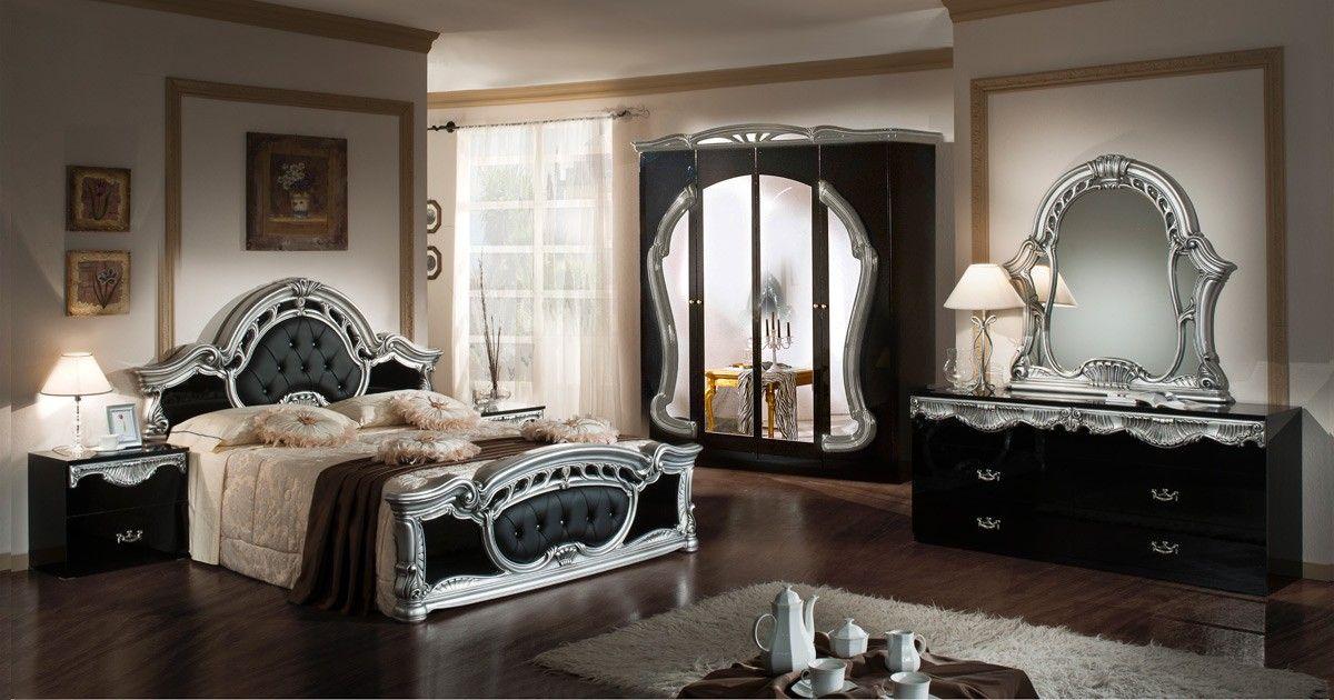 Modrest Rococo - Italian Classic Beige Bedroom Set Rococo - Italian Bedroom Sets