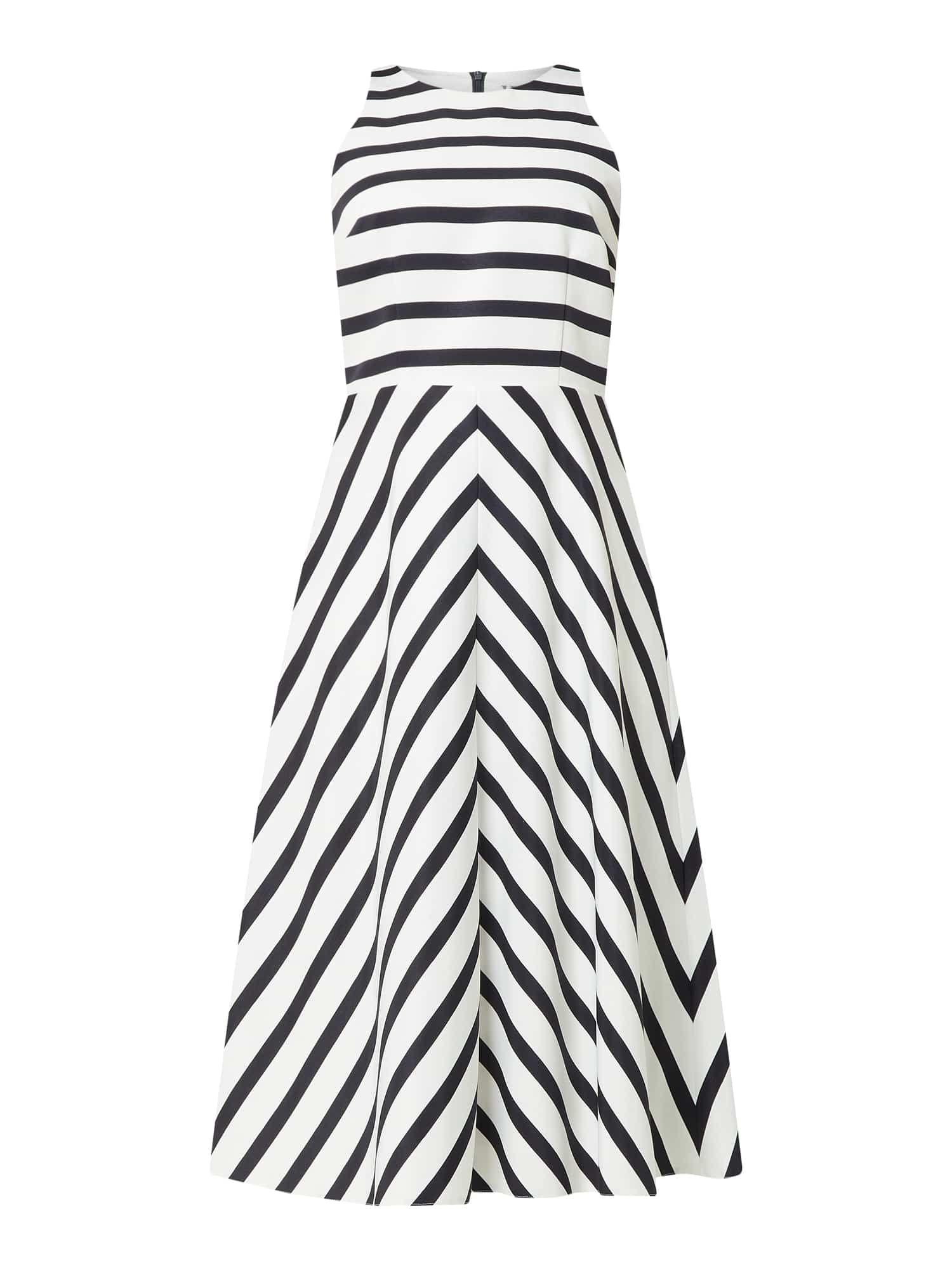 V By Vera Mont Kleid Mit Streifenmuster In Blau Turkis Online Kaufen 1212476 P C Online Shop Kleider Streifenmuster Freizeitkleider