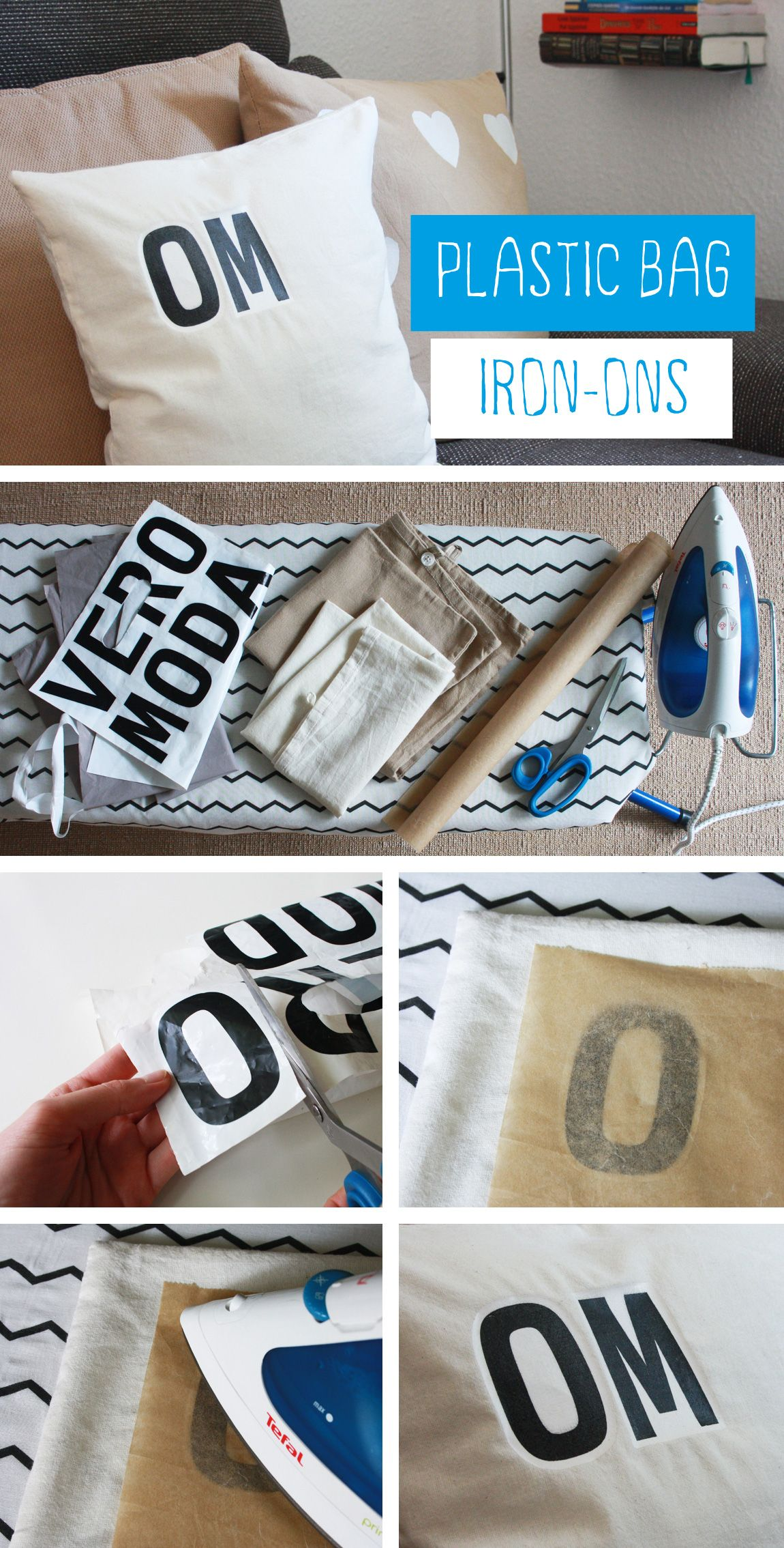 Great Idea, Using Plastic Bags To Print On Fabric.