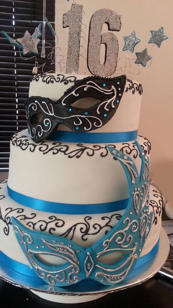 masqurade cakes | The Masquerade Ball Cake | Damara's 16th Birthday ...