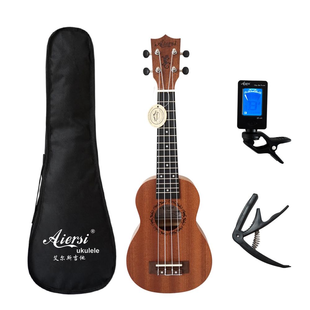 Aiersi Brand 21 Inch Ukelele Mahogany Soprano Ukulele Musical Instrument Hawaii Guitar Import Products From Amazon Usa Products Uk In 2020 Sopranos Ukelele Ukulele