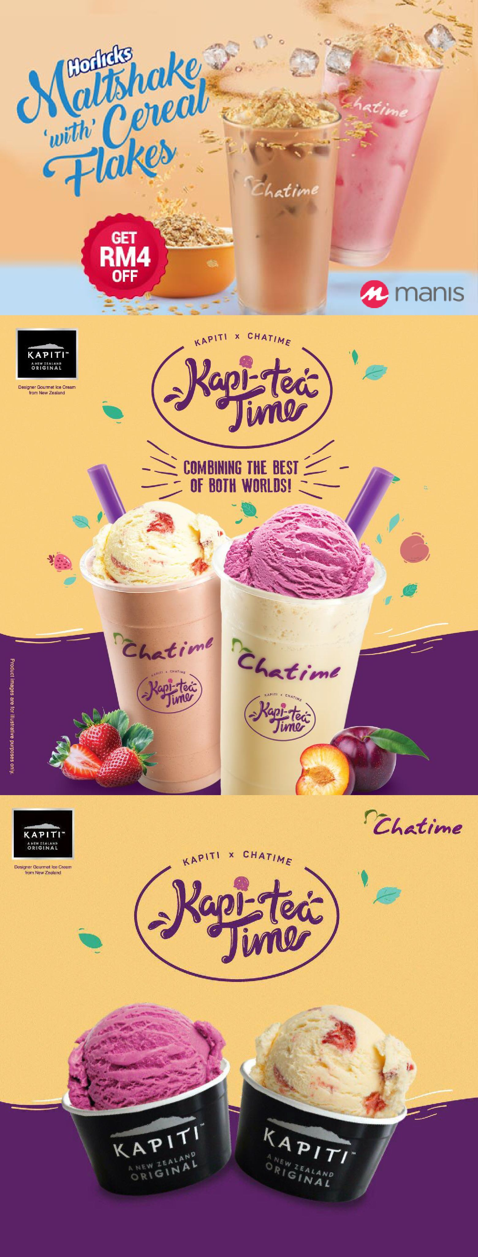 Need A Little Sprinkle On Your Monday Introducing The New Indulgence From Chatime Malaysia Horlicks Maltshake With Cere Makanan Desain Grafis Poster Minuman