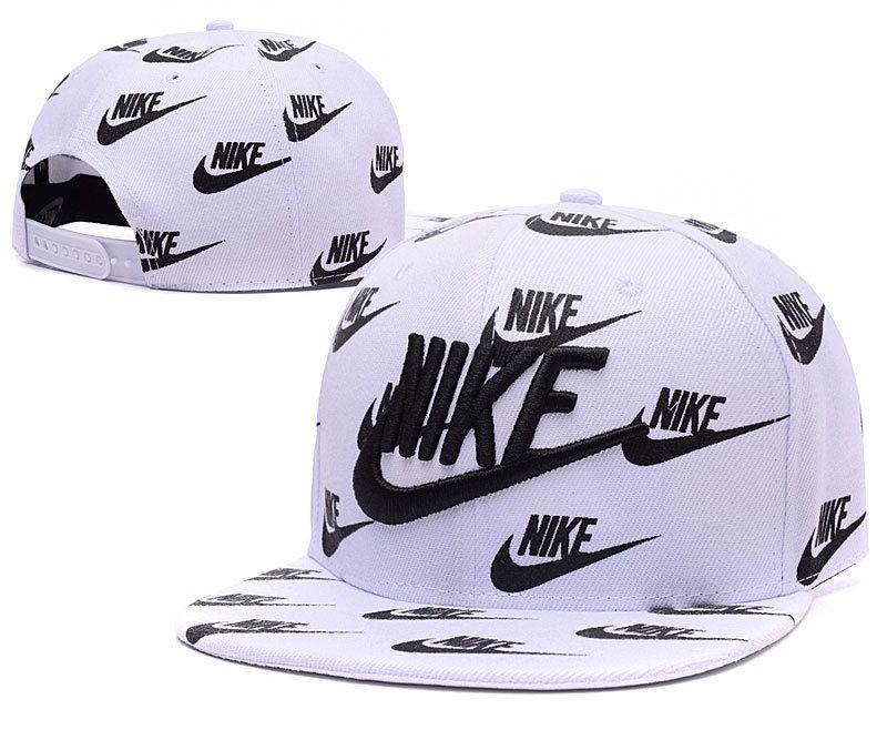 uk availability bc965 f8c6a Mens Nike True Nike Logo 3D Embroidery Multi Nike Printed Logo Sports  Fashion Snapback Cap - White