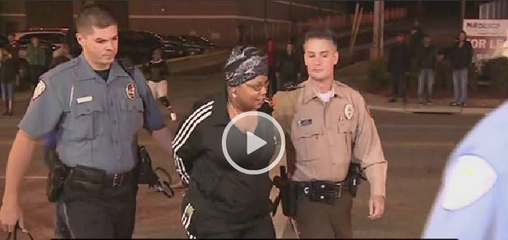 ...headed to Ferguson for a recent protest...arrested for carrying a firearm ..