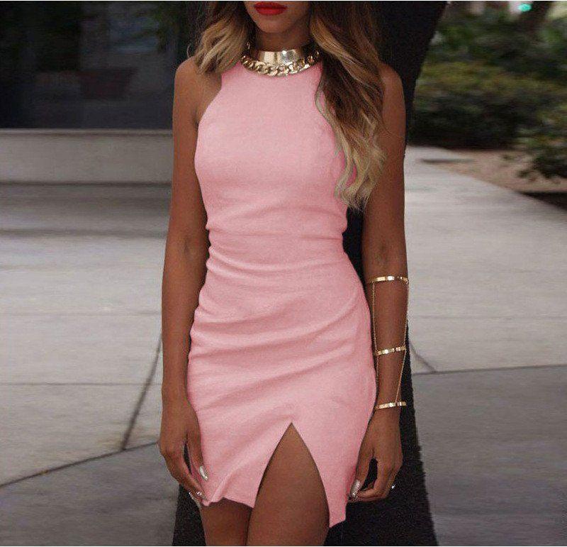 SLIM SLEEVELESS PACKAGE HIP DRESS | Dress | Pinterest | Vestiditos ...