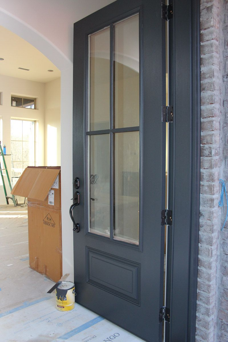 Color Spotlight: Benjamin Moore Wrought Iron | Dark doors ...
