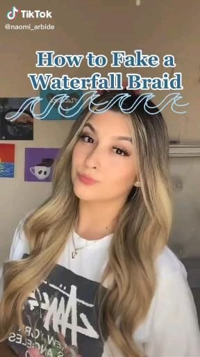 how to fake a waterfall braid