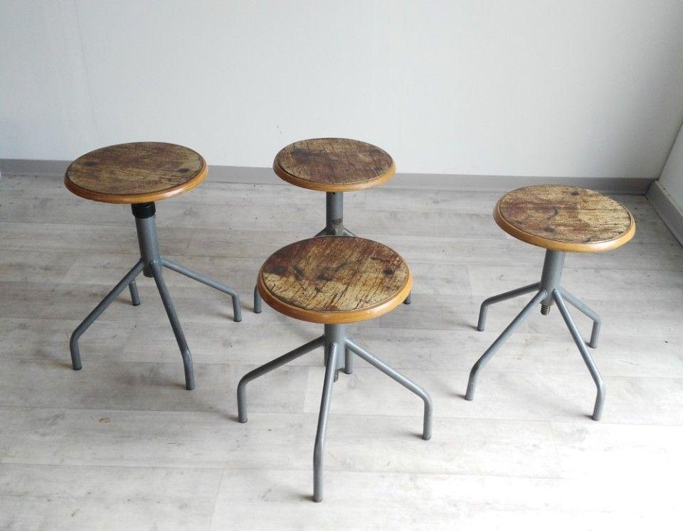 Sgabelli industriali vintage ilrestaurato stool