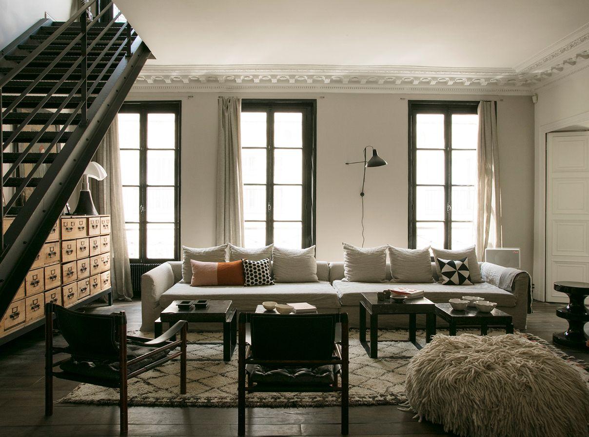 Emma sawko deco interieur appartement parisien d coration inspiration atelier living - Appartement parisien decoration ...