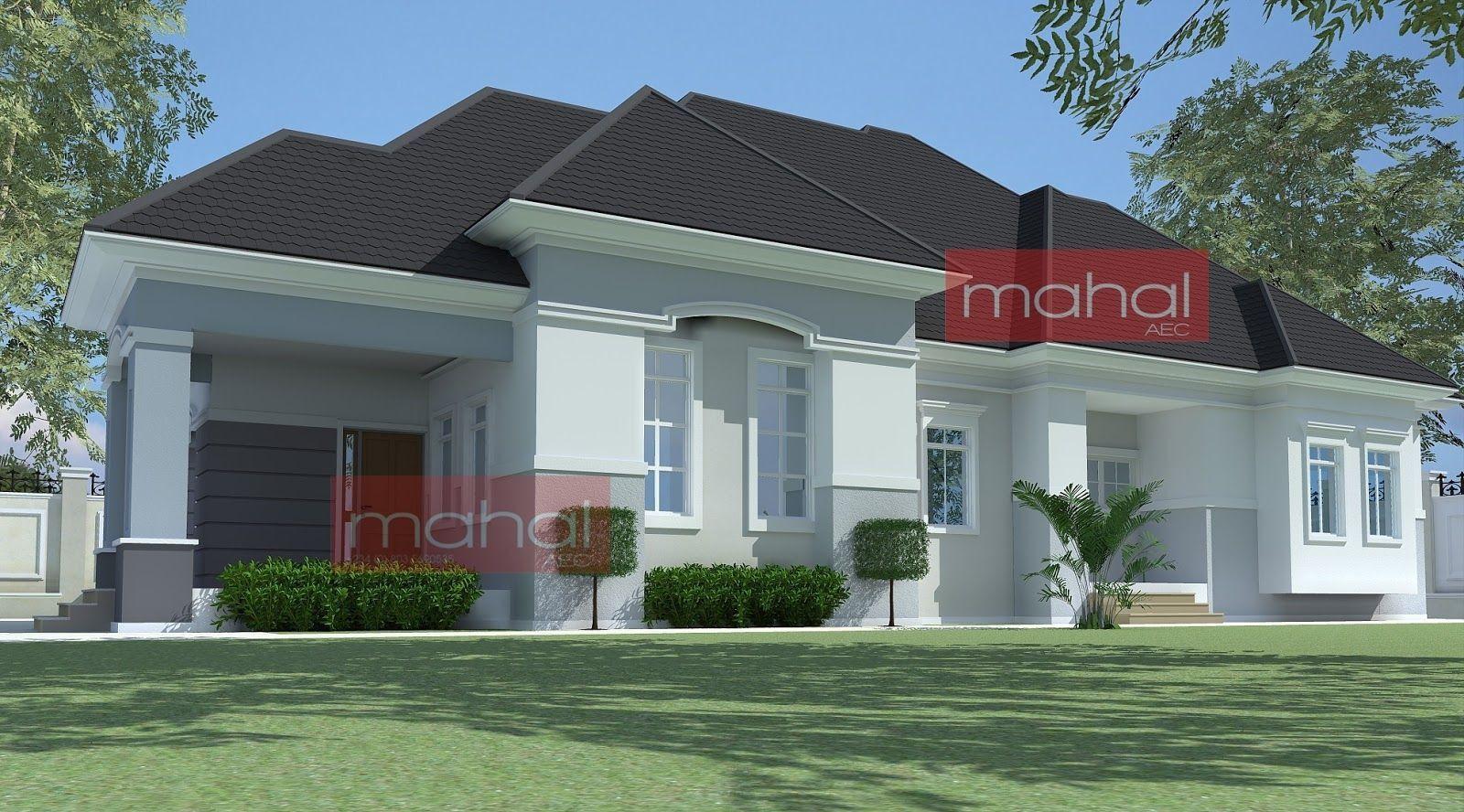 Illustrate Home Designs 4 Bedroom Bungalow Plan In Nigeria 4 Bedroom Bungalow Modern Roof Design House Roof Design Bungalow House Plans