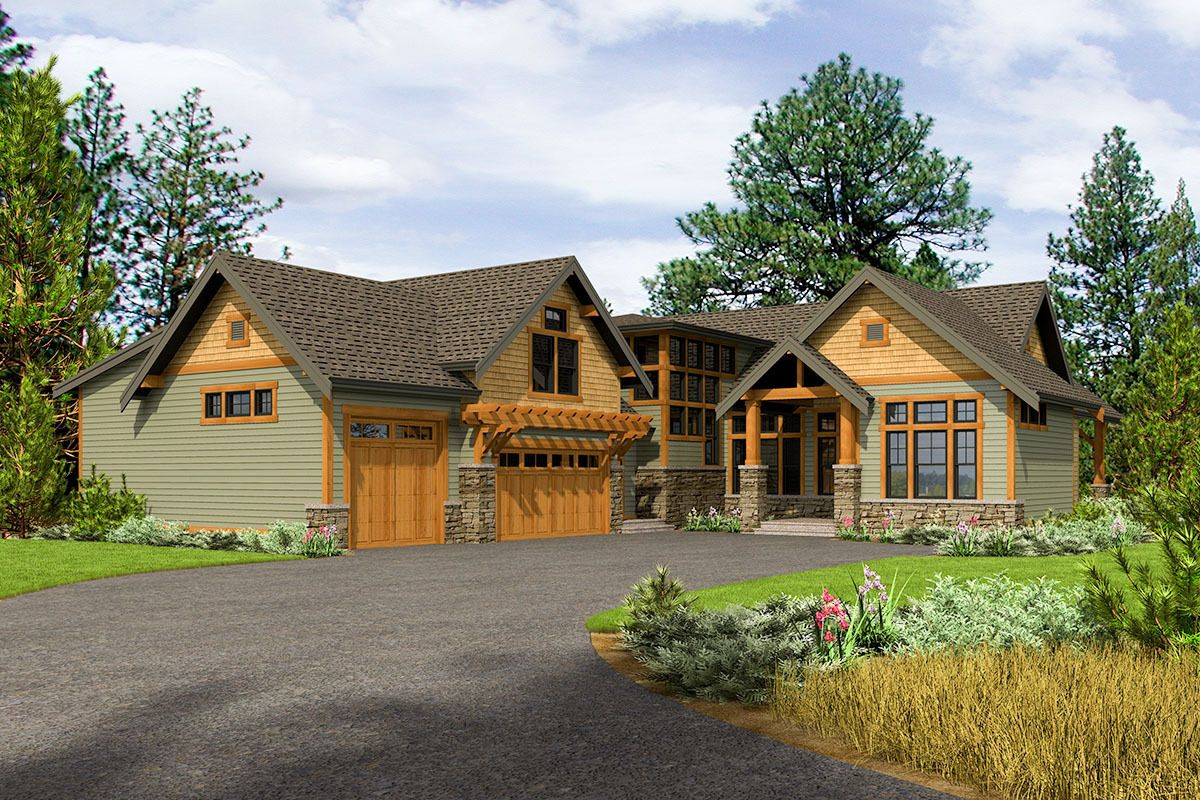 Rustic 4Bed House Plan with 3Car Garage Rustic