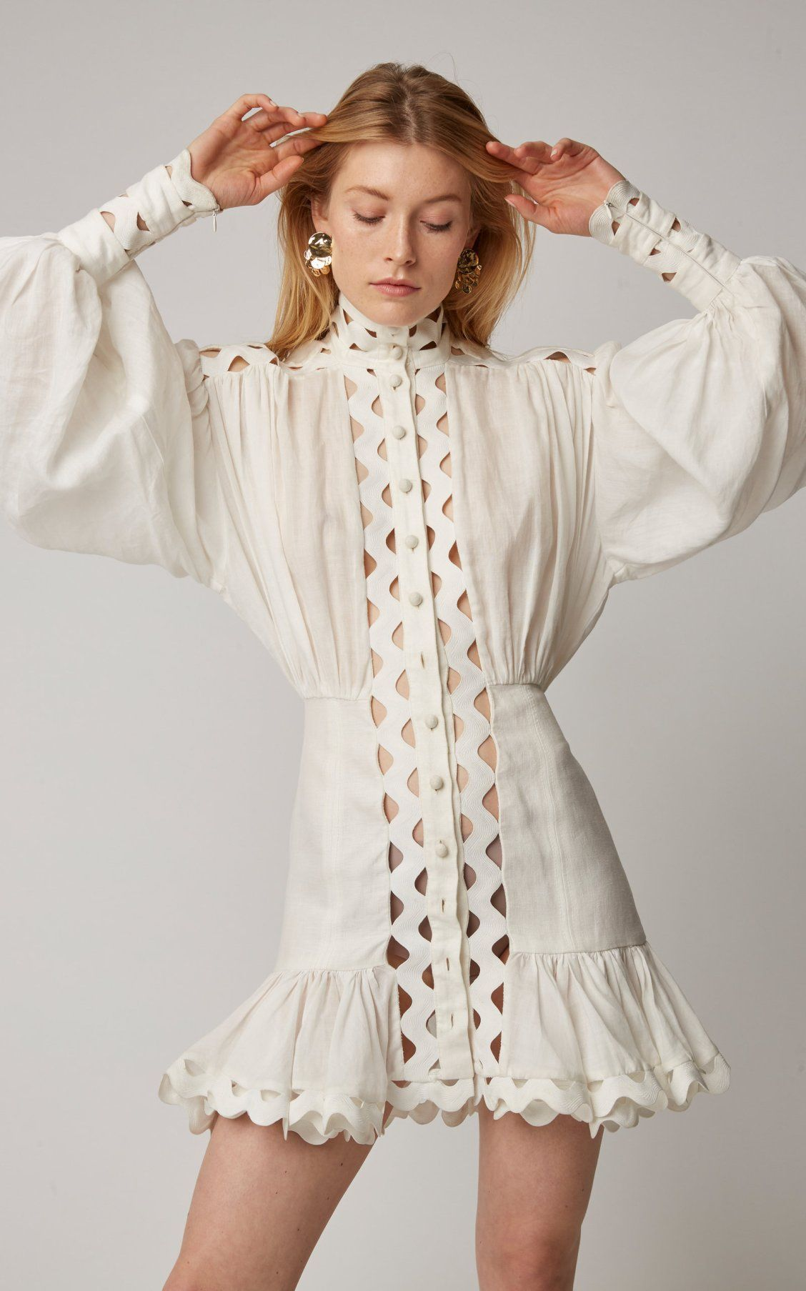 ea2e4643018a Ninety-Six Linen-Blend Mini Dress by Zimmermann SS19