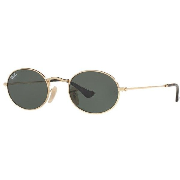 8573864b8e649 Ray-Ban Gold Oval Sunglasses - rb3547n (470 BRL) ❤ liked on Polyvore. Óculos  De Sol ...