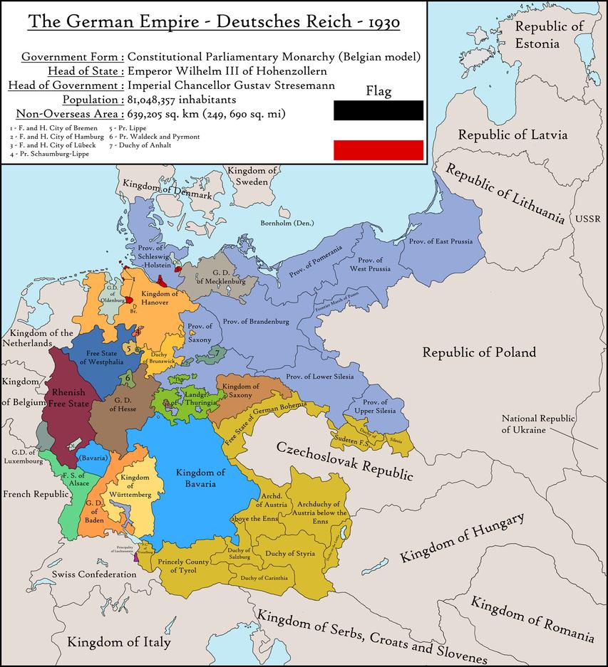 landkarte deutschland 1930 The Kaiser's Bluff by ThePrussianRussian | Landkarte deutschland