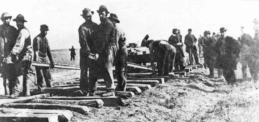 In railroad 1800s workers the Railroads In