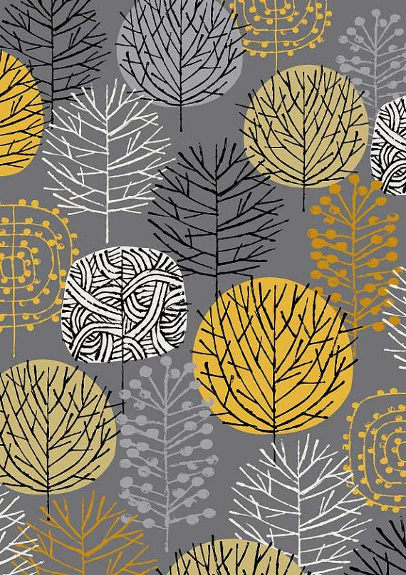 Grey Woodland Limited Edition Giclee Print Mixed Media
