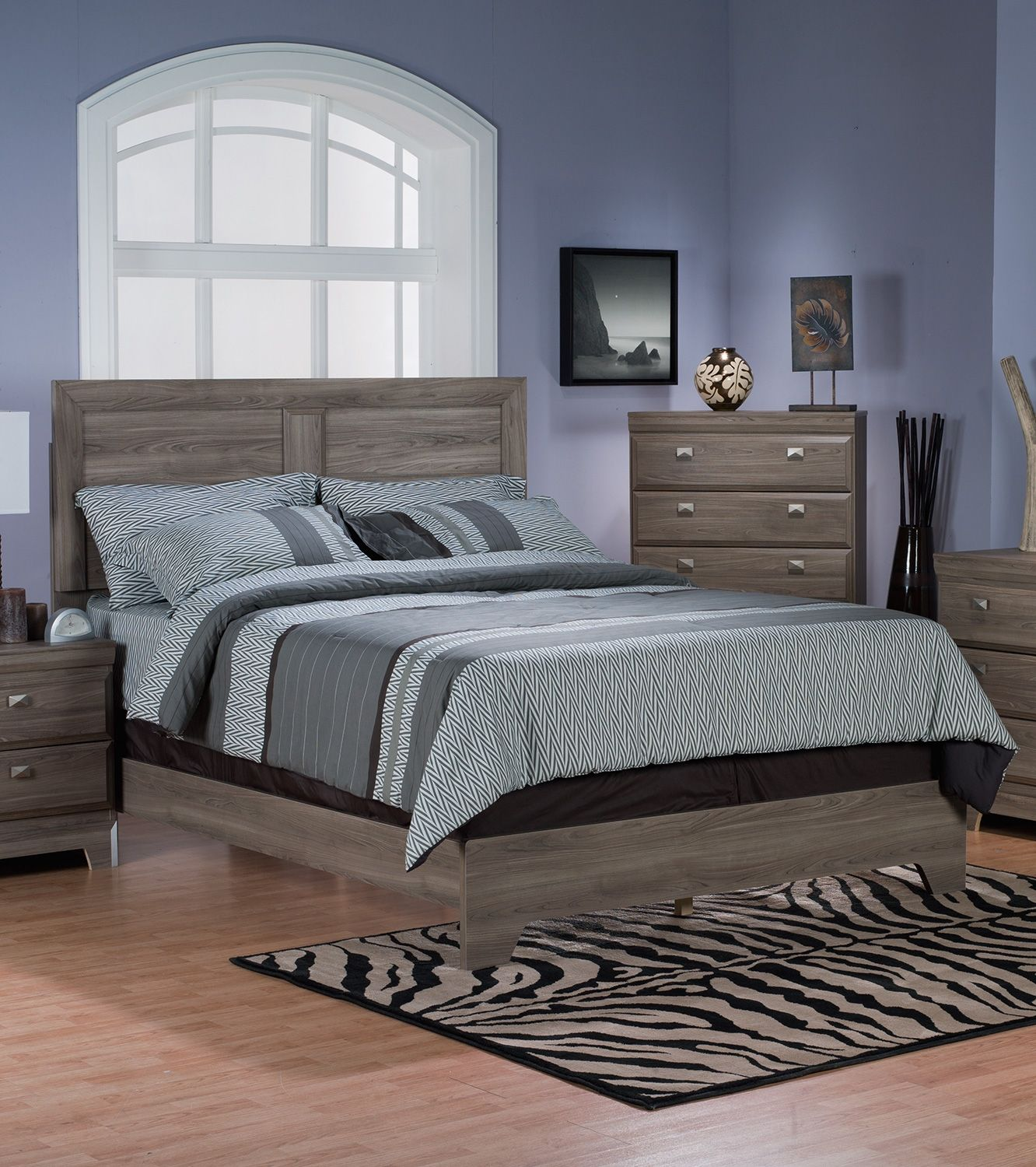 Yorkdale Light 7-Piece Queen Panel Bedroom Package | The ...